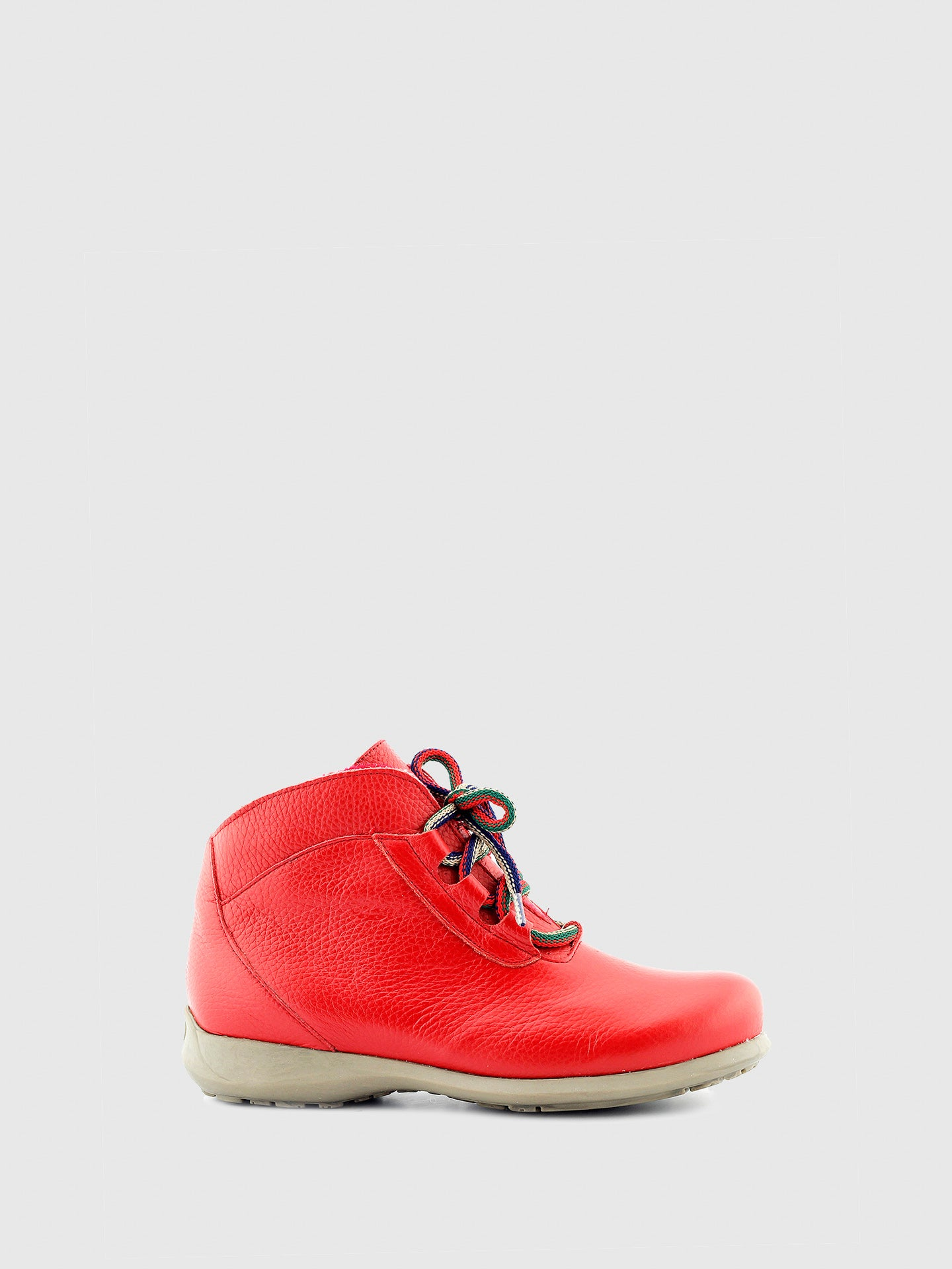 Jose Saenz Red Lace-up Ankle Boots