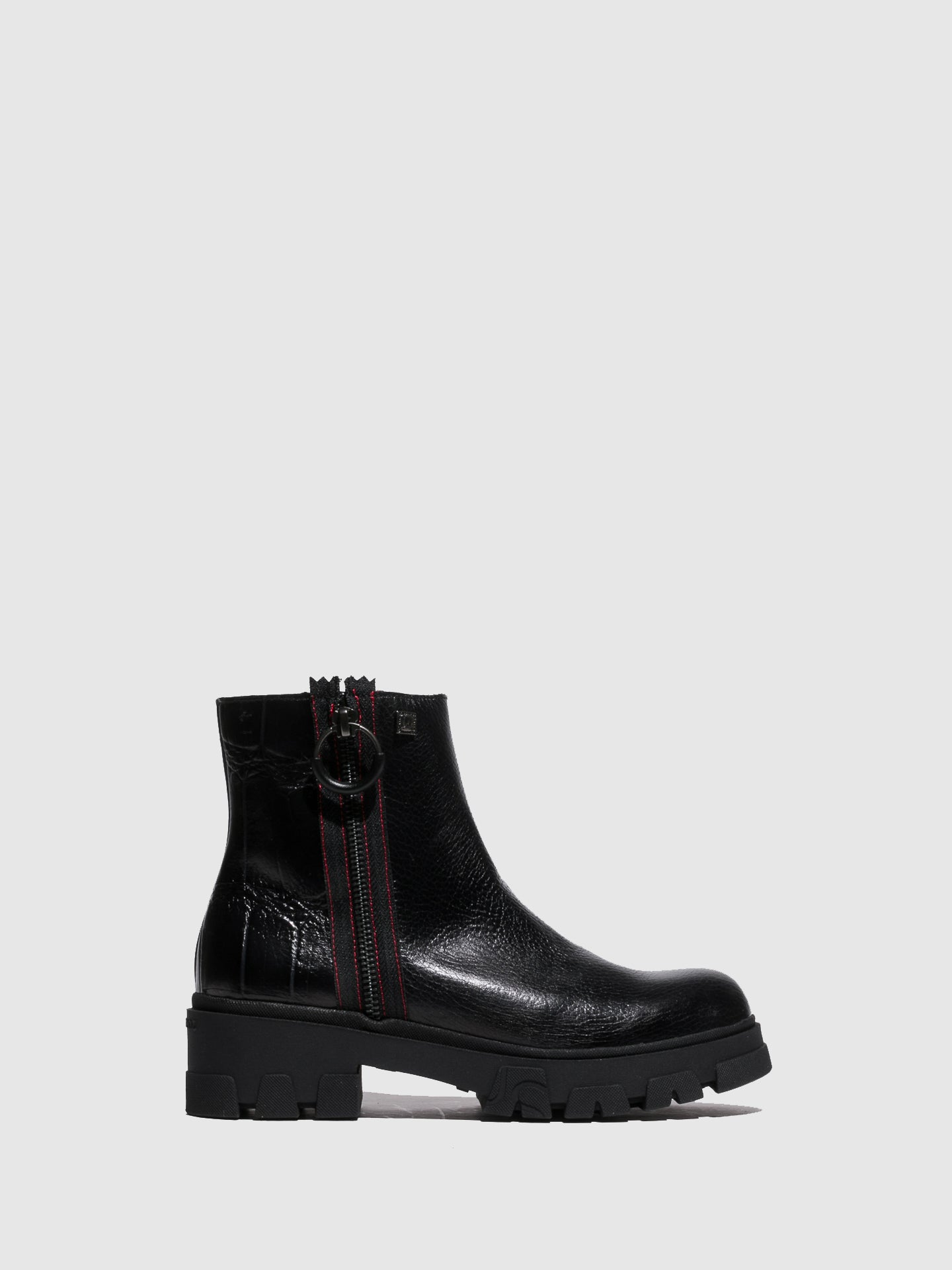 Jose Saenz Black Zip Up Ankle Boots