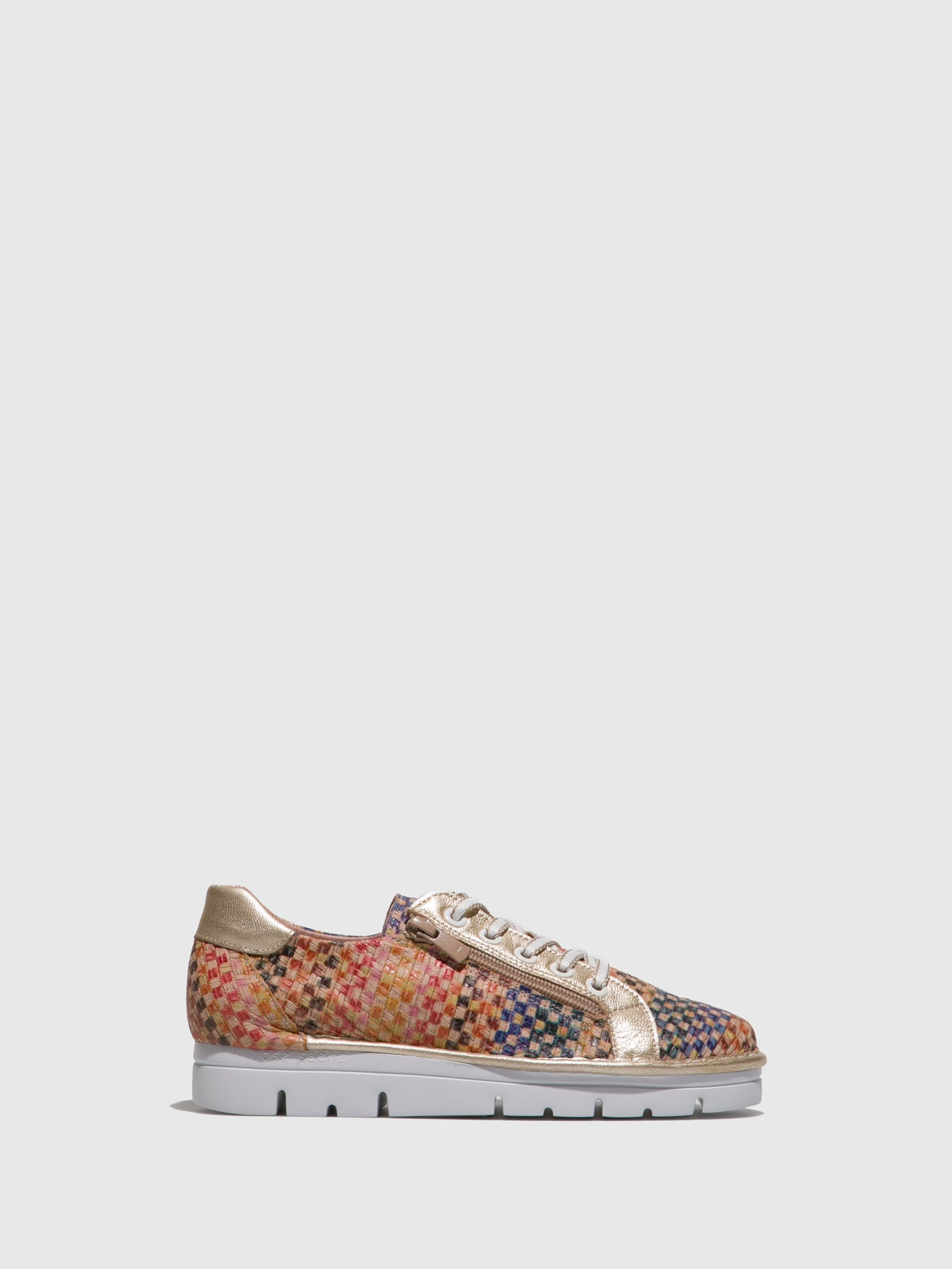 Jose Saenz Multicolor Lace-up Shoes