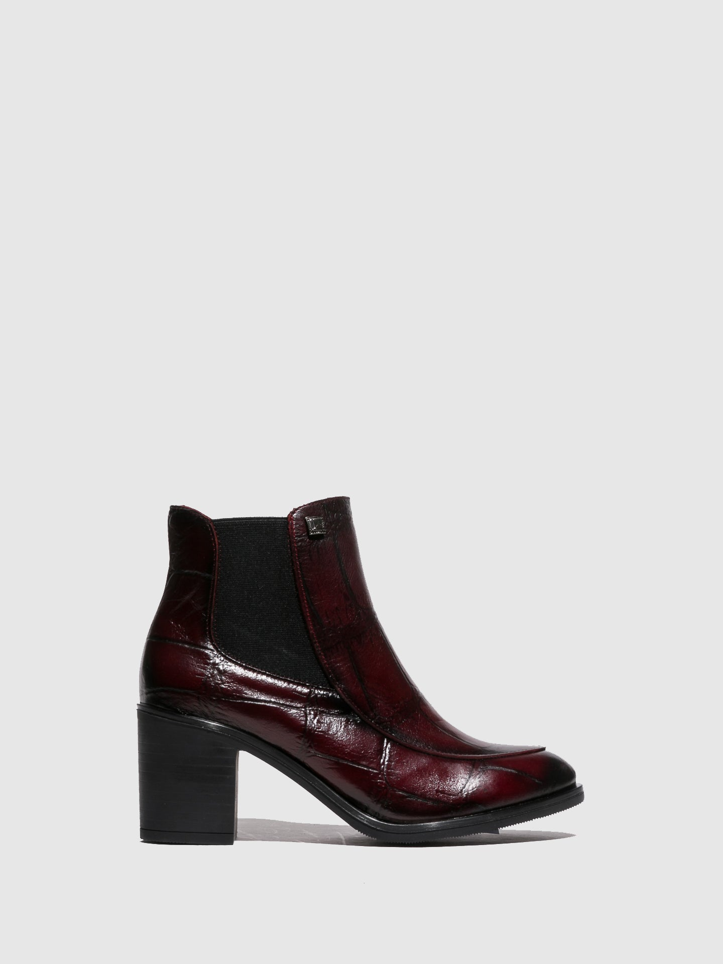 Jose Saenz Crimson Zip Up Ankle Boots