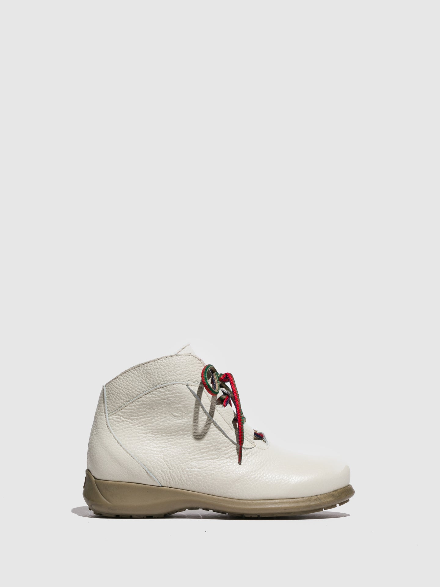 Jose Saenz White Lace-up Ankle Boots