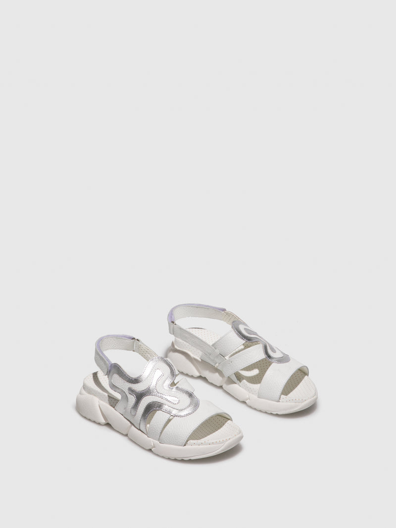 Jose Saenz White Crossover Sandals