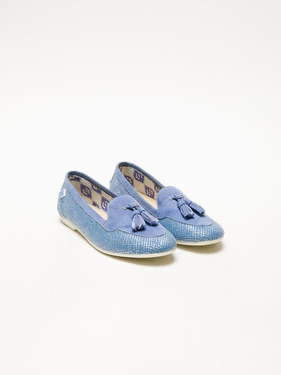 Lazuli Blue Appliqués Shoes