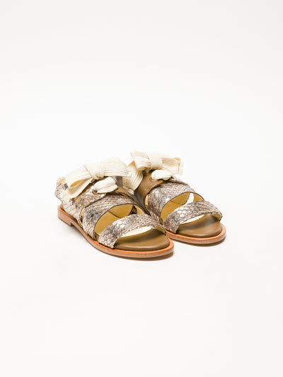Lazuli Tan Lace-Up Sandals