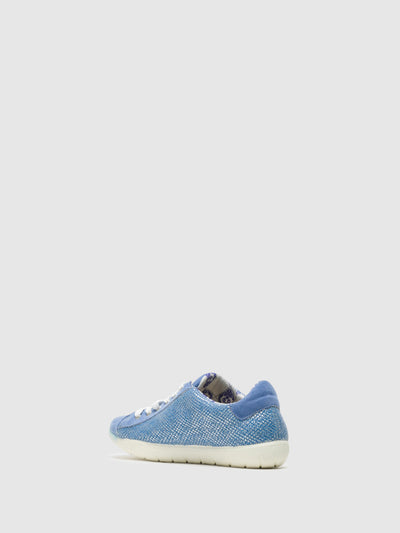 Lazuli Blue Lace-Up Trainers