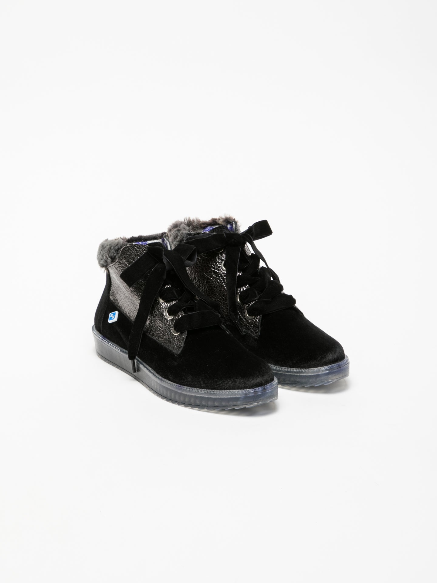 Lazuli Black Low-Top Trainers