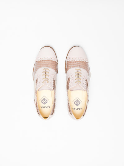 Lazuli Pink Lace-Up Shoes