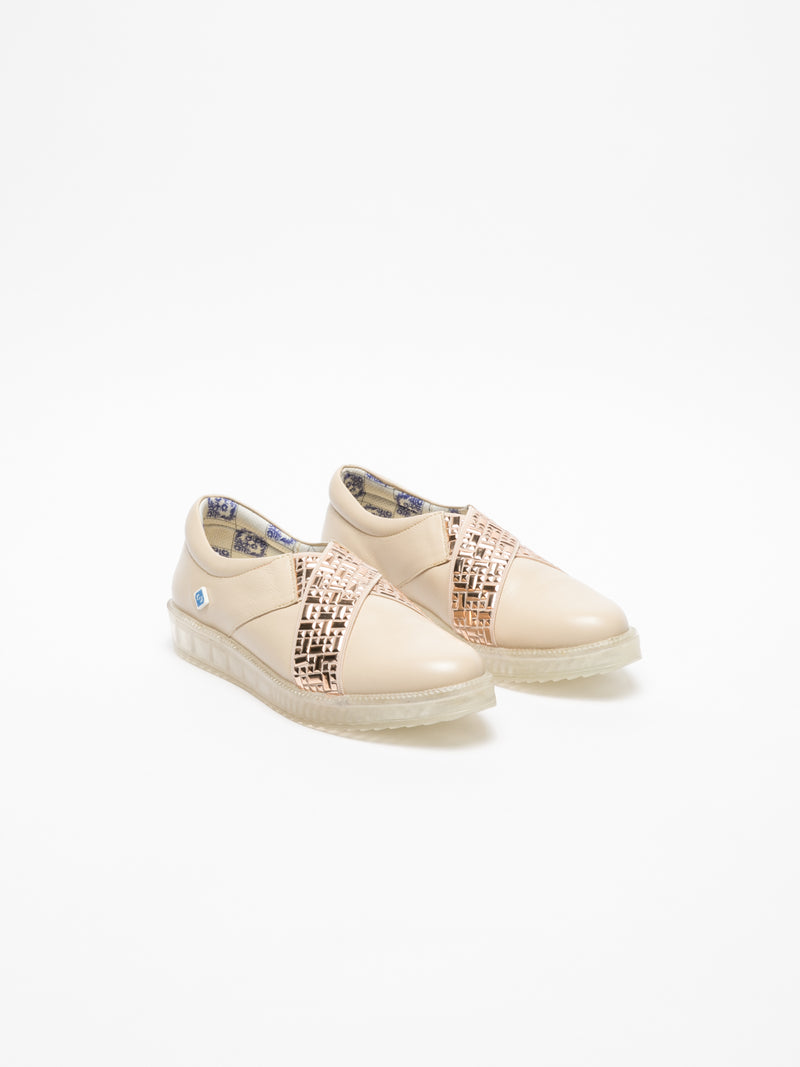 Beige Slip-on Trainers