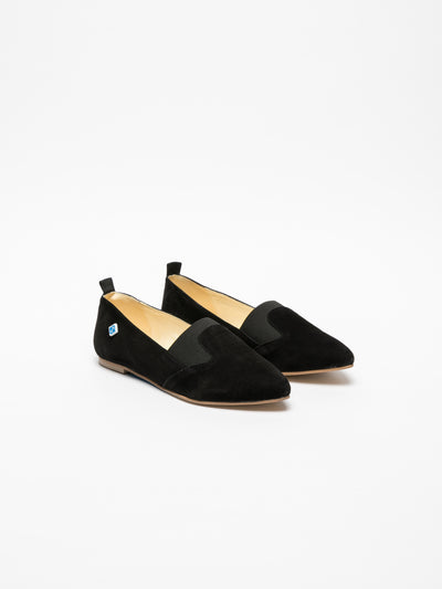 Lazuli Black Pointed Toe Shoes