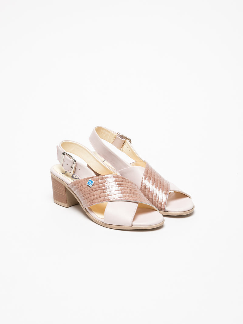Pink Crossover Sandals