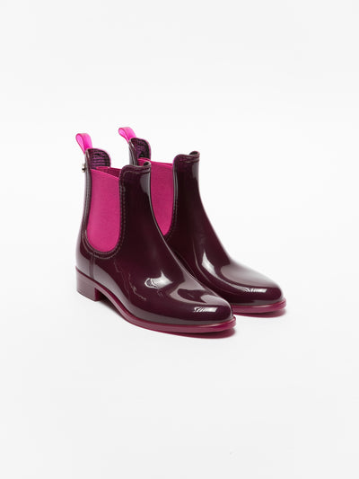 Lemon Jelly Purple Chelsea Ankle Boots