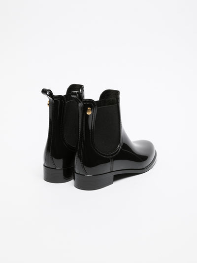 Lemon Jelly Black Chelsea Ankle Boots