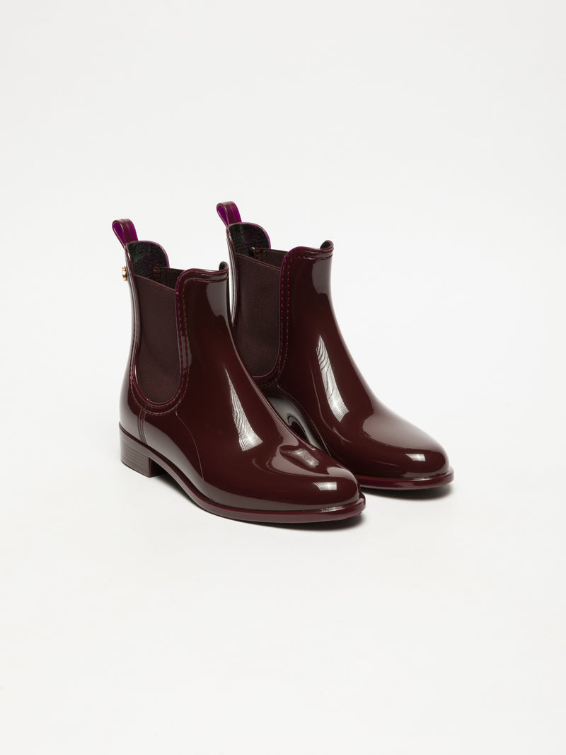 Lemon Jelly DarkRed Chelsea Ankle Boots