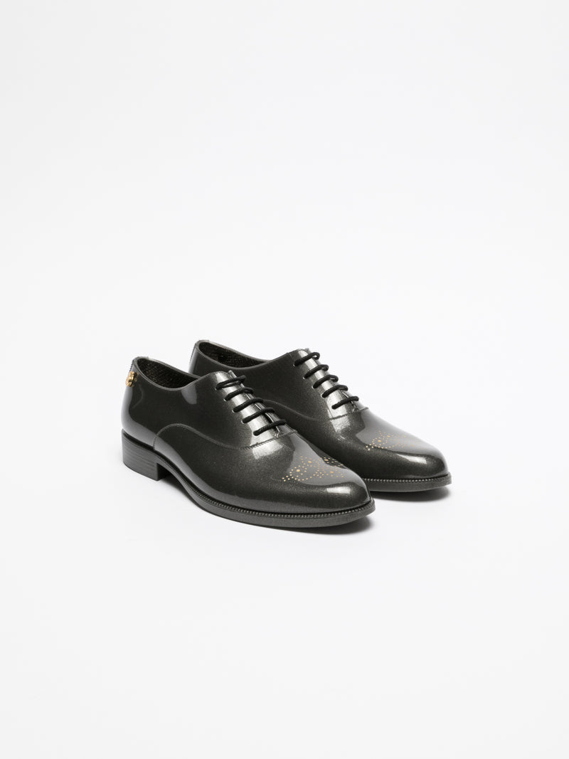 Lemon Jelly Gray Oxford Shoes