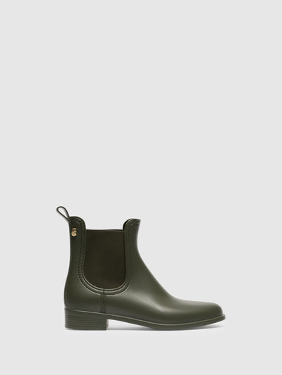 Lemon Jelly Green Chelsea Ankle Boots
