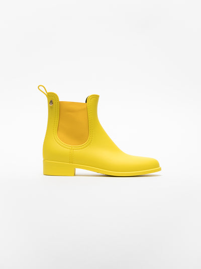 Lemon Jelly LightYellow Chelsea Ankle Boots