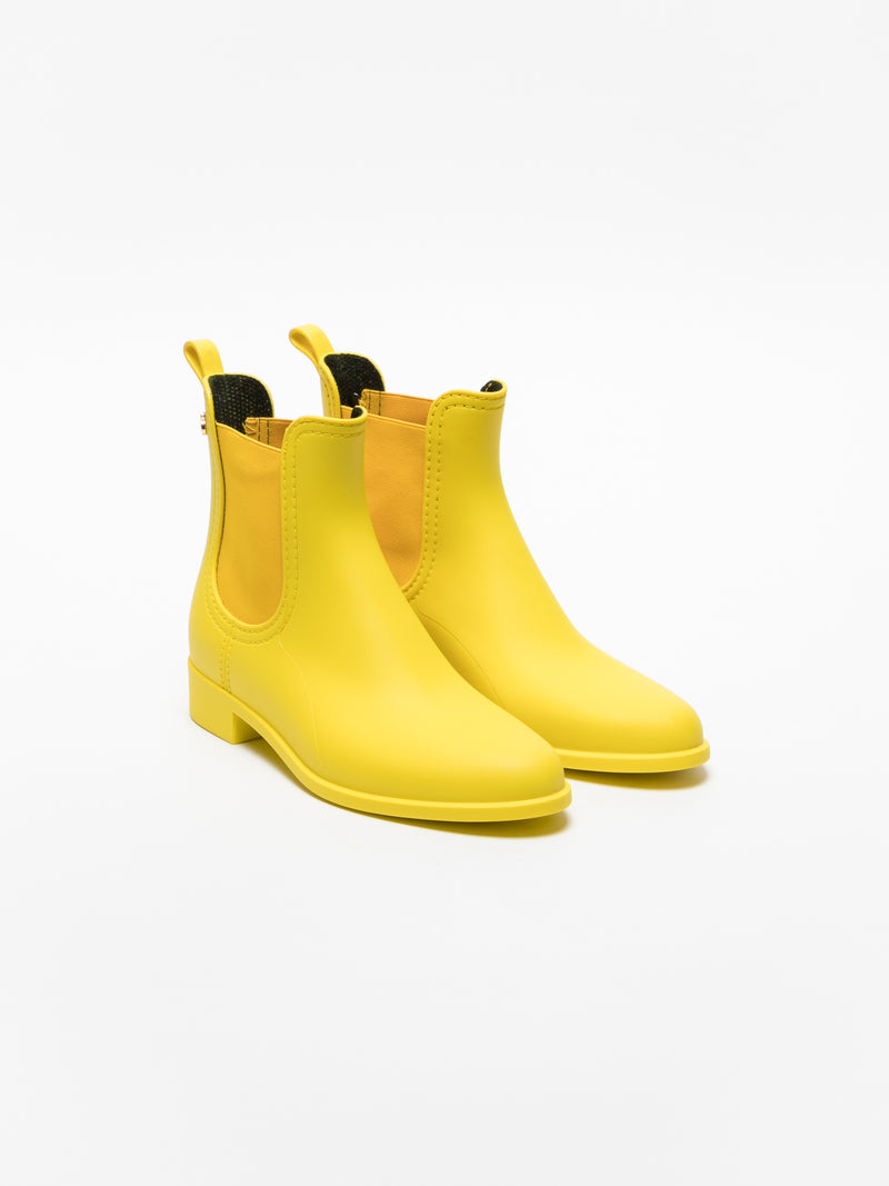 LightYellow Chelsea Ankle Boots
