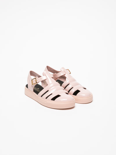 Lemon Jelly Pink Buckle Sandals
