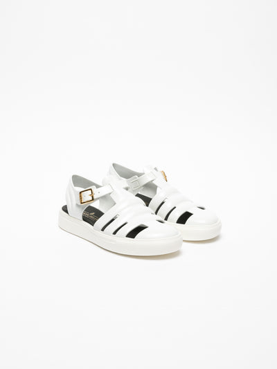 Lemon Jelly White Buckle Sandals