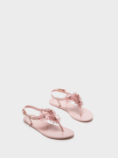 Lemon Jelly LightPink Thong Sandals