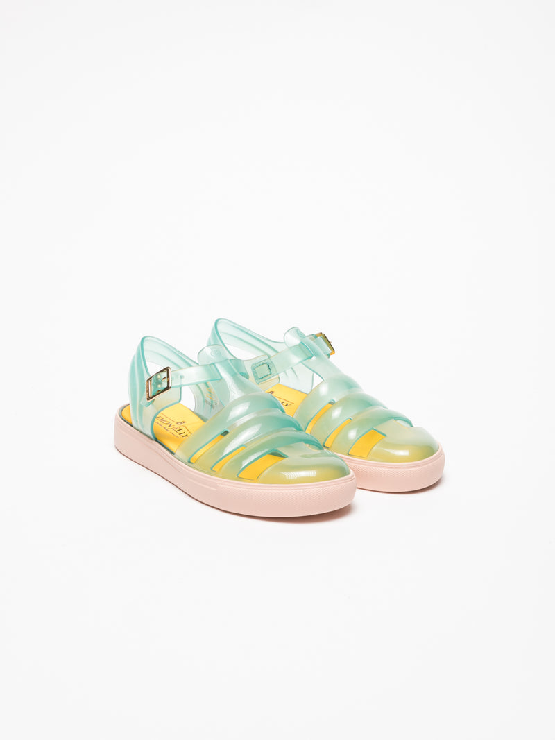 Lemon Jelly Aquamarine Buckle Sandals
