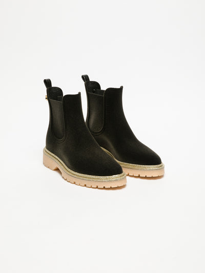 Lemon Jelly Brown Tractor Ankle Boots