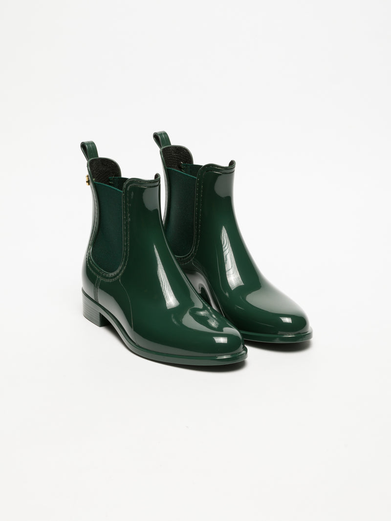 Lemon Jelly DarkGreen Chelsea Ankle Boots