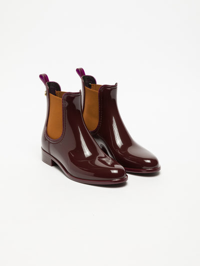 Lemon Jelly Maroon Chelsea Ankle Boots