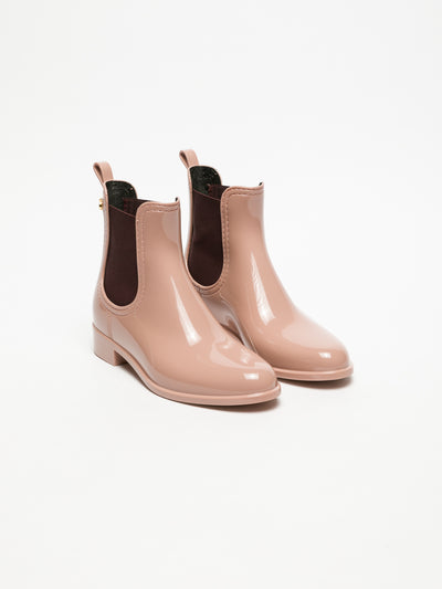 Lemon Jelly Pink Chelsea Ankle Boots