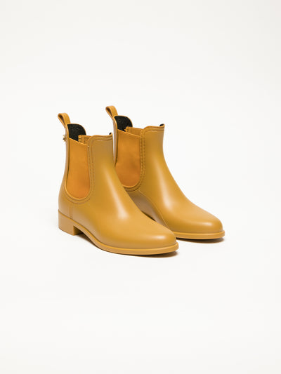 Lemon Jelly Orange Chelsea Ankle Boots