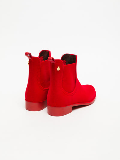 Lemon Jelly Red Chelsea Ankle Boots