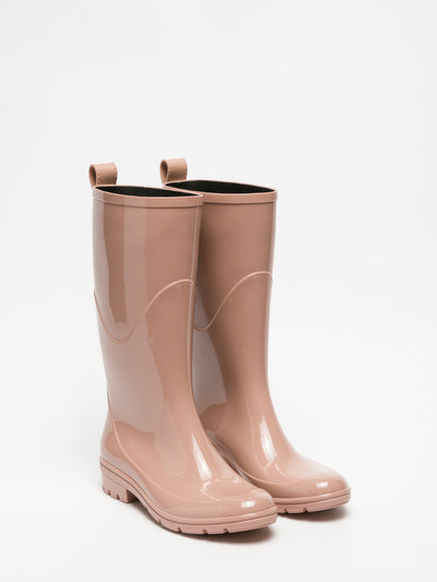 Lemon Jelly Pink Knee-High Boots