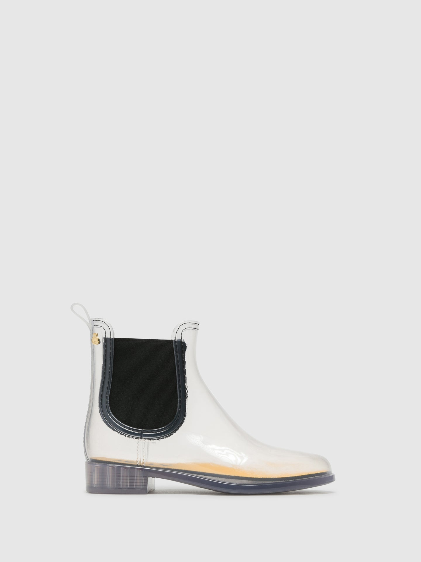 Lemon Jelly Transparent Chelsea Ankle Boots