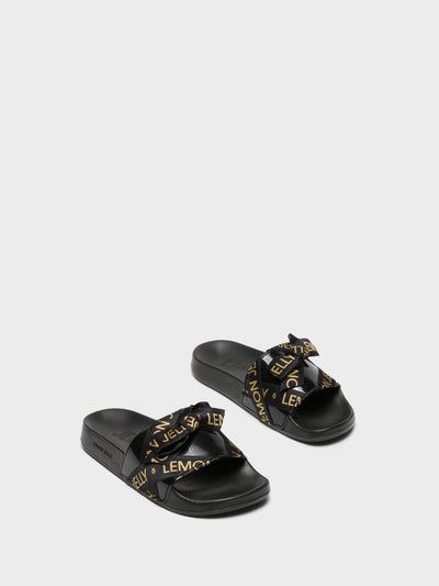 Lemon Jelly Black Casual Slides