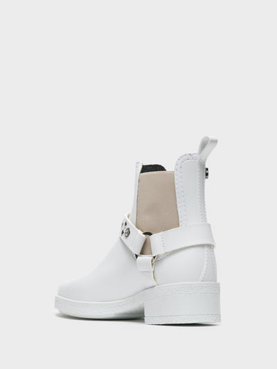 Lemon Jelly White Chelsea Ankle Boots