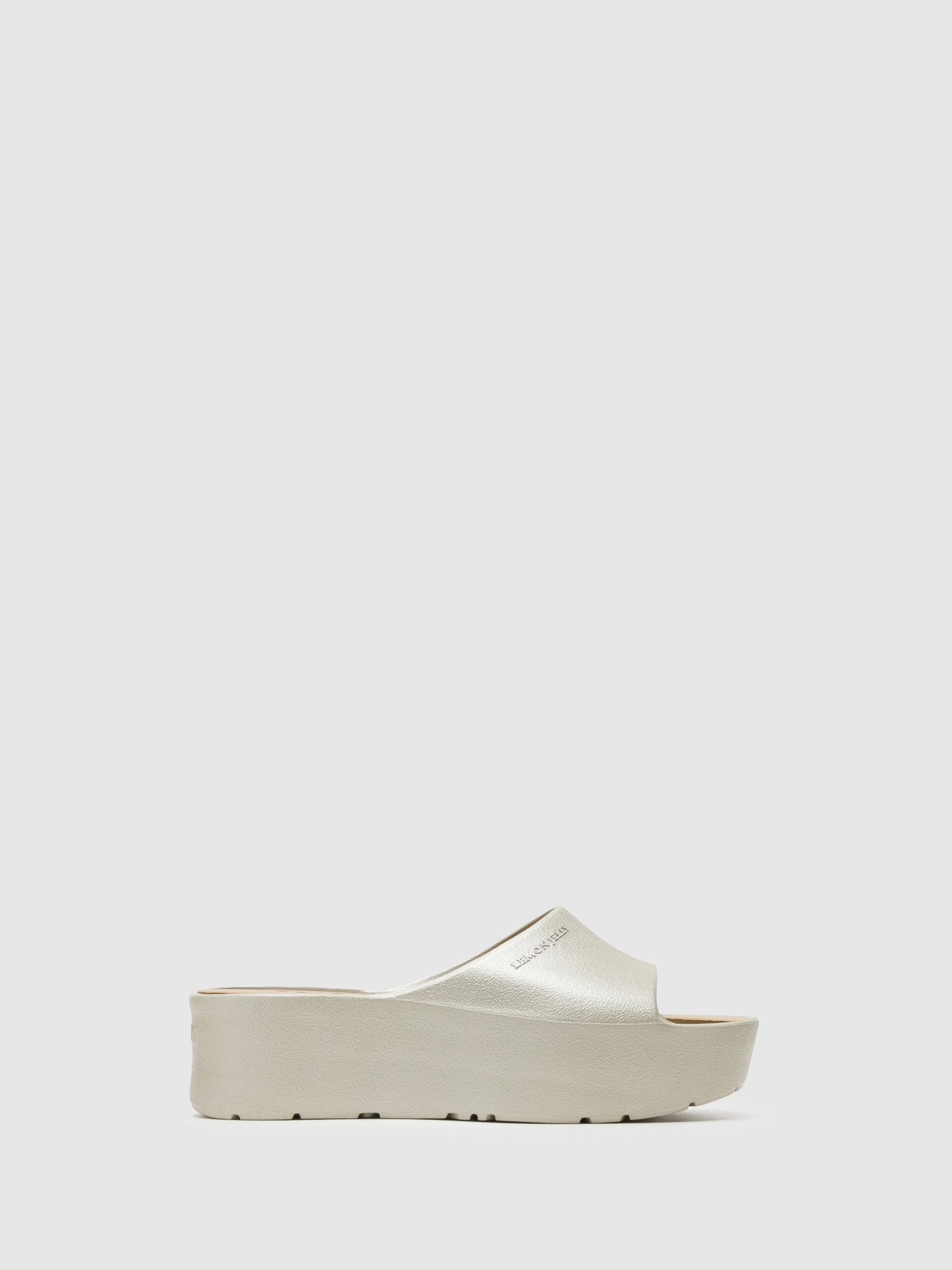 Lemon Jelly WhiteSmoke Platform Sandals