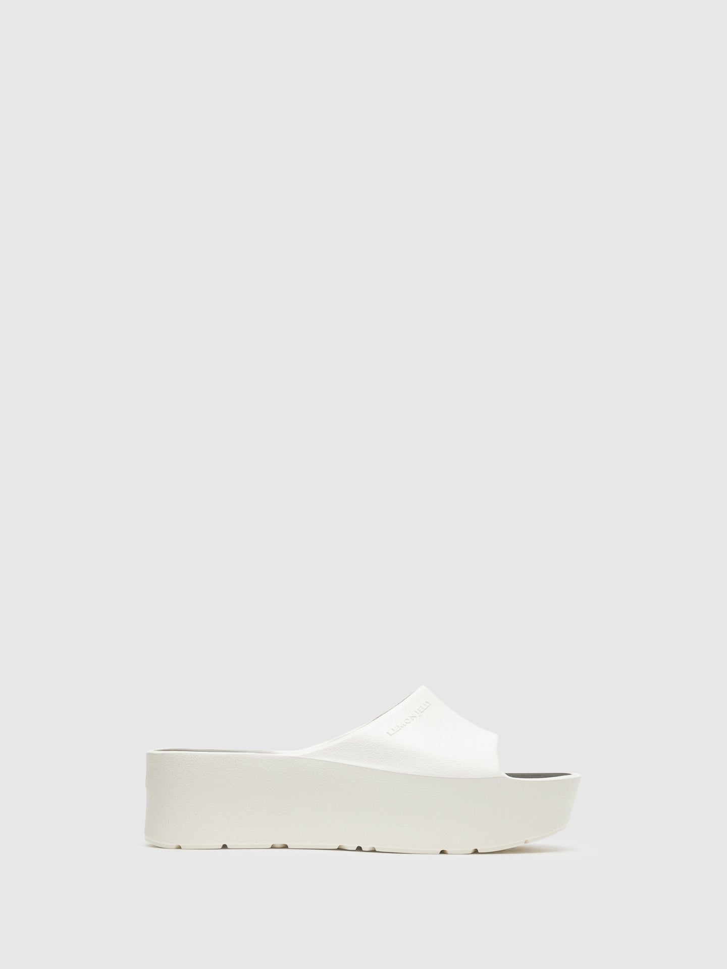 Lemon Jelly White Platform Sandals