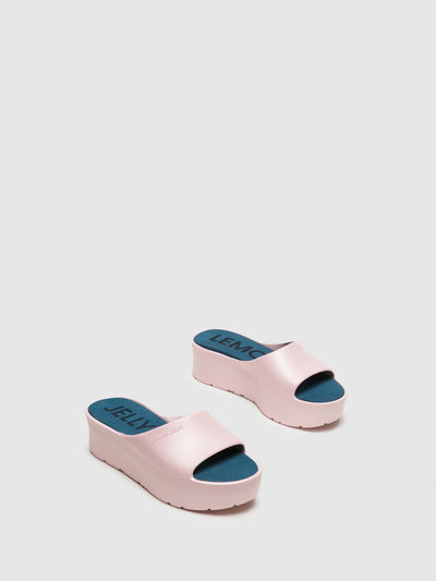 Lemon Jelly Pink Platform Sandals