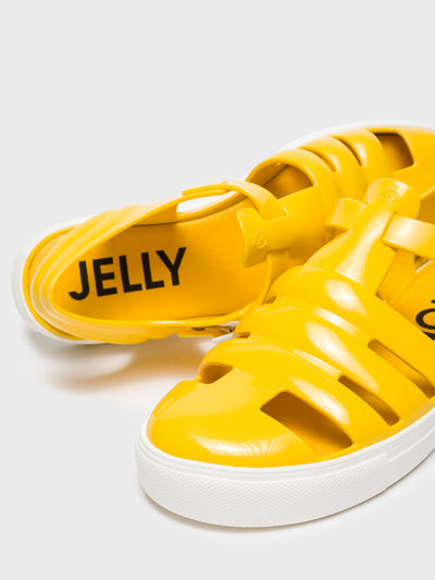 Lemon Jelly Yellow Buckle Sandals