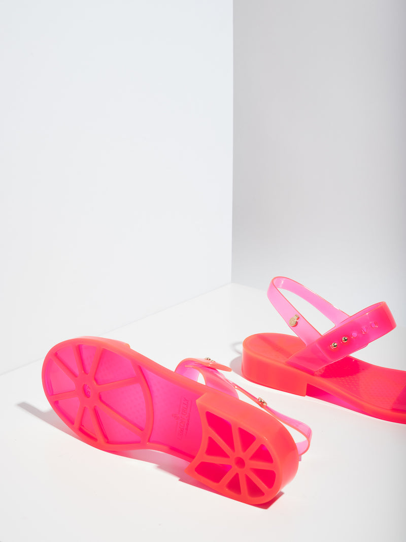 Lemon Jelly Pink Strappy Sandals