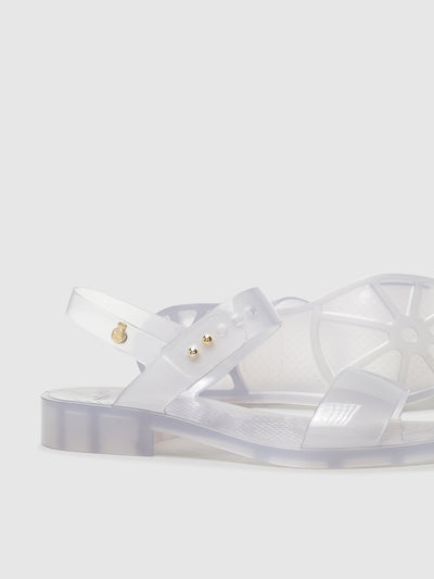 Lemon Jelly Transparent Strappy Sandals