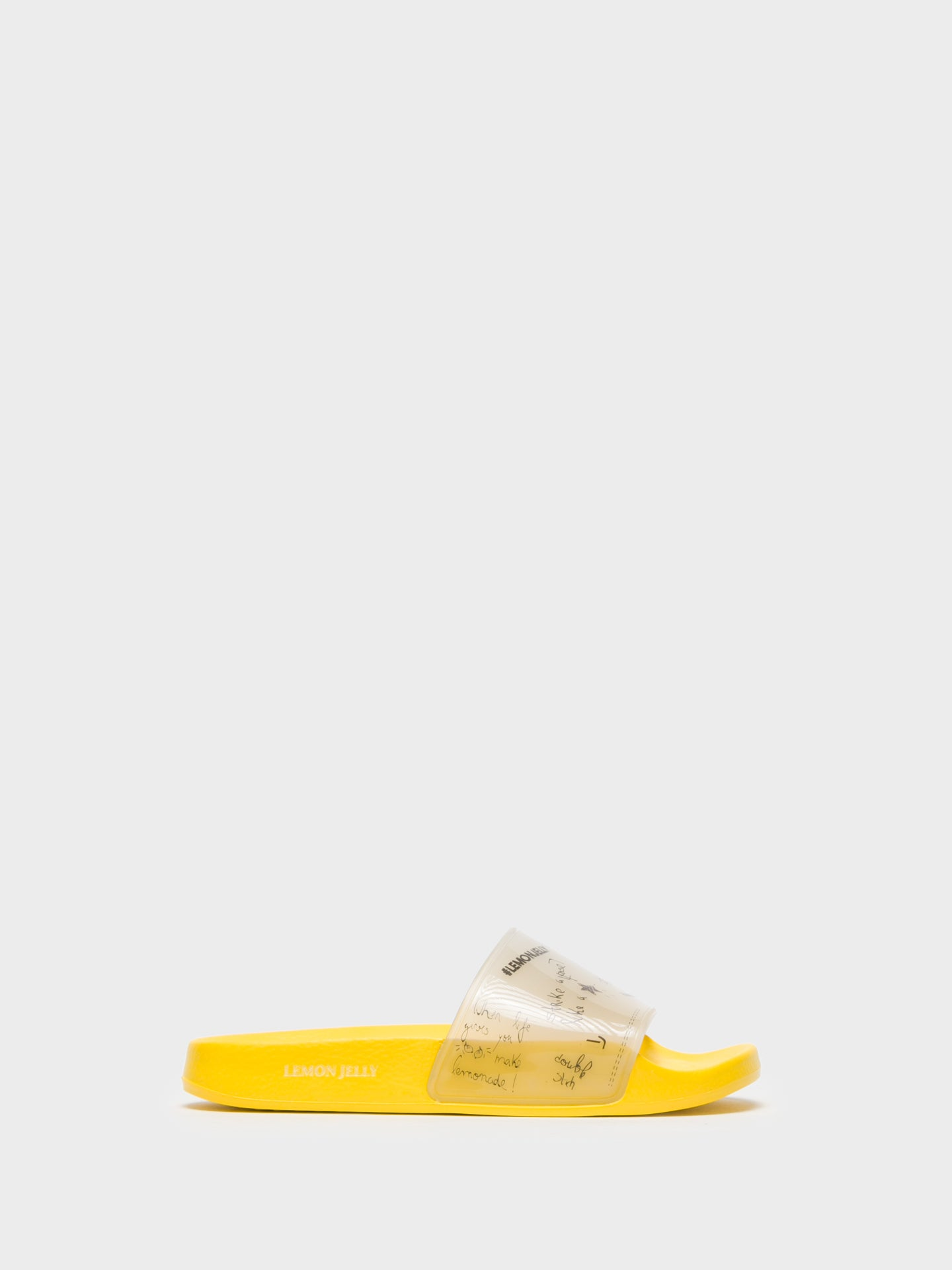 Lemon Jelly Yellow Casual Slides