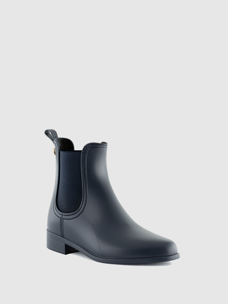 Lemon Jelly Navy Chelsea Ankle Boots