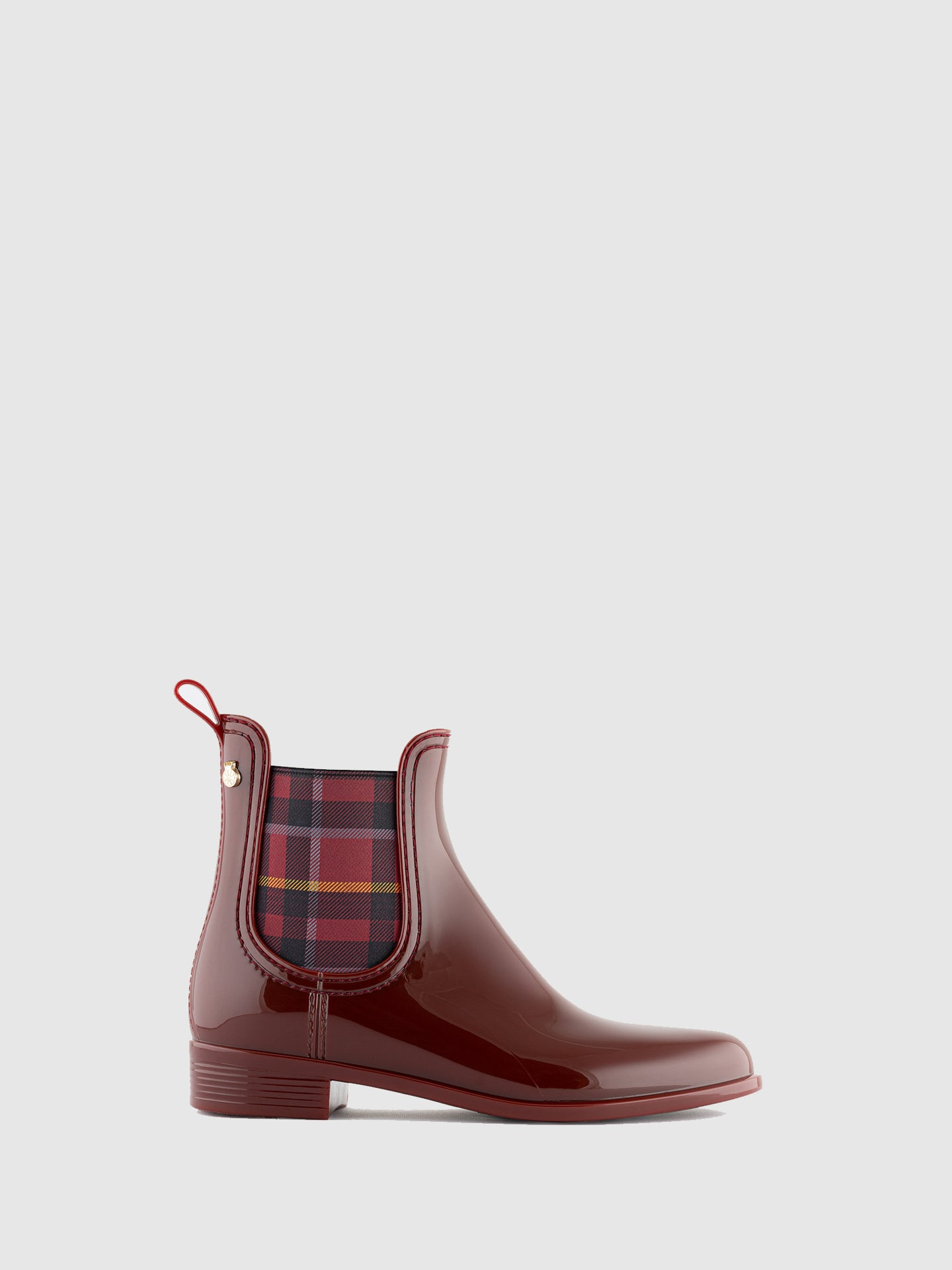 Lemon Jelly Burgundy Chelsea Ankle Boots