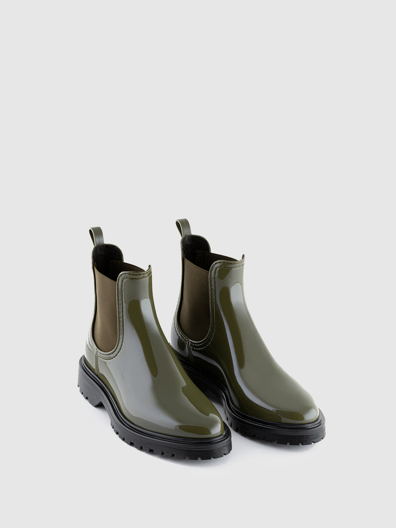 Military Green Chelsea Ankle Boots