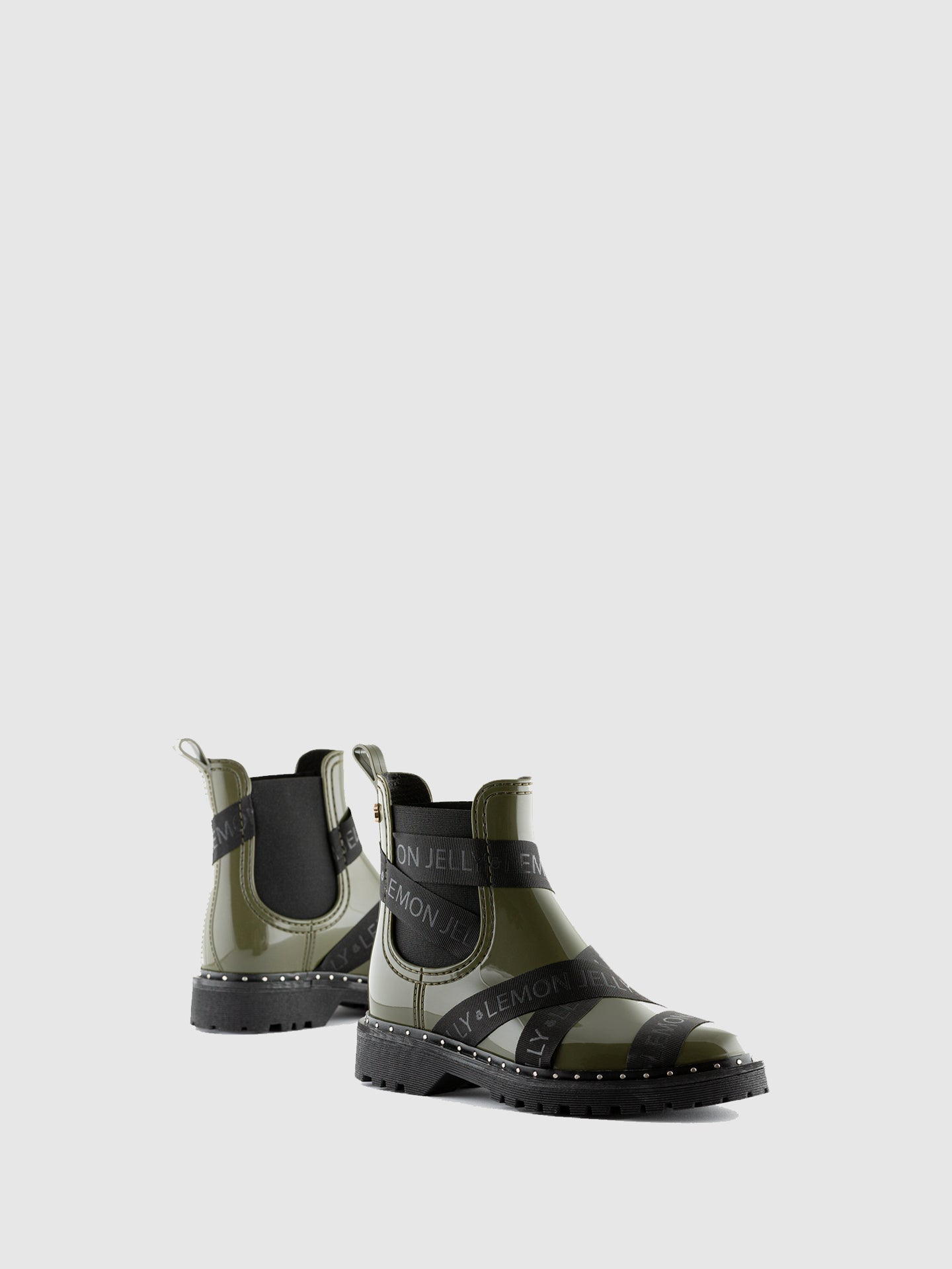 Lemon Jelly Military Green Chelsea Ankle Boots