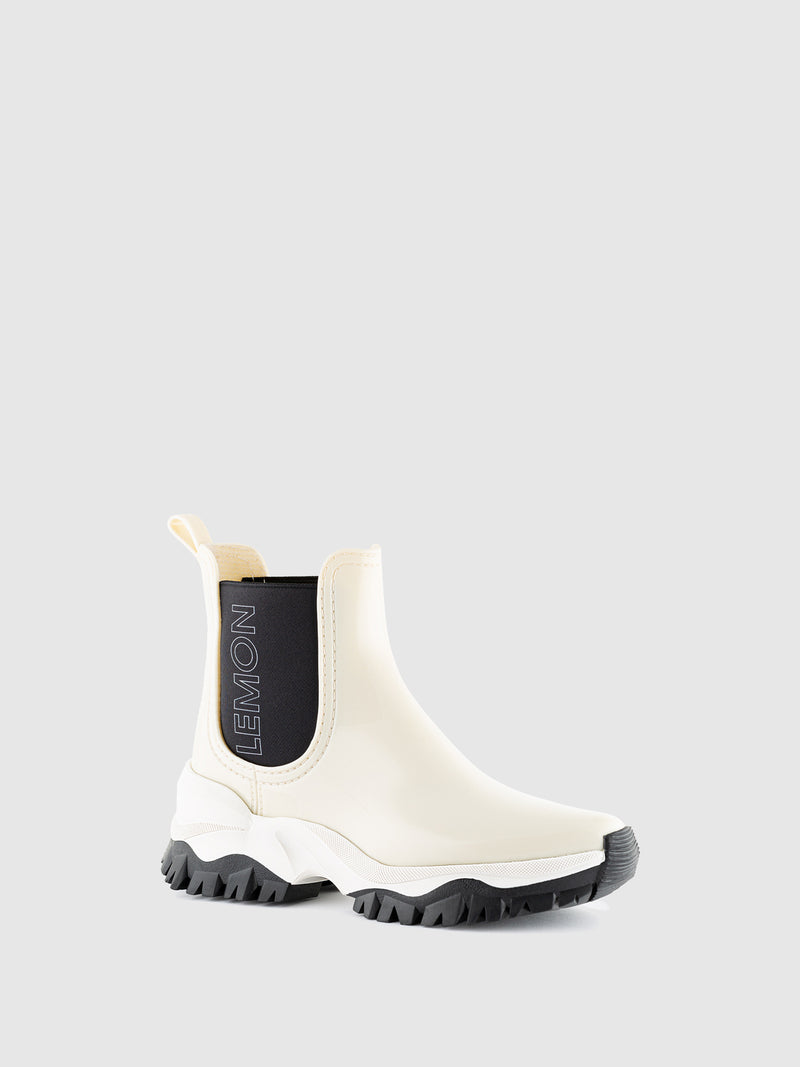 Lemon Jelly Cotton Chelsea Ankle Boots