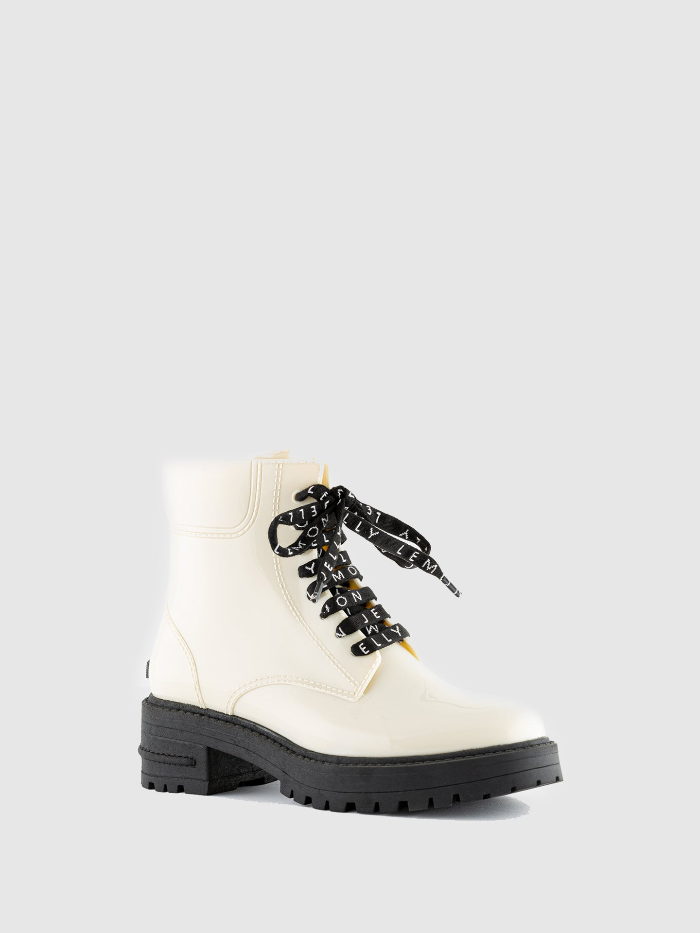 Lemon Jelly Cotton Round Toe Boots