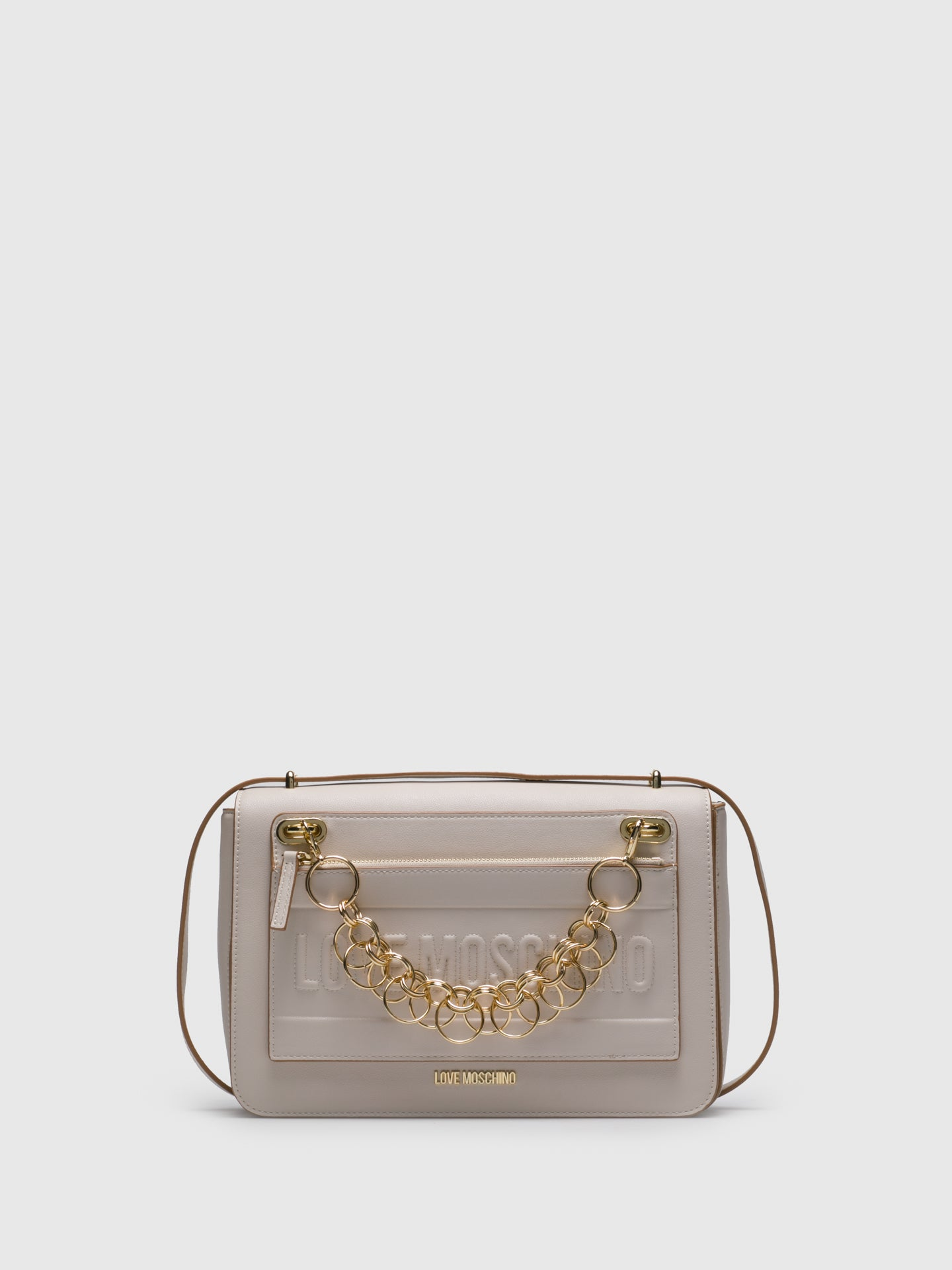 LOVE MOSCHINO Beige Crossbody Bag