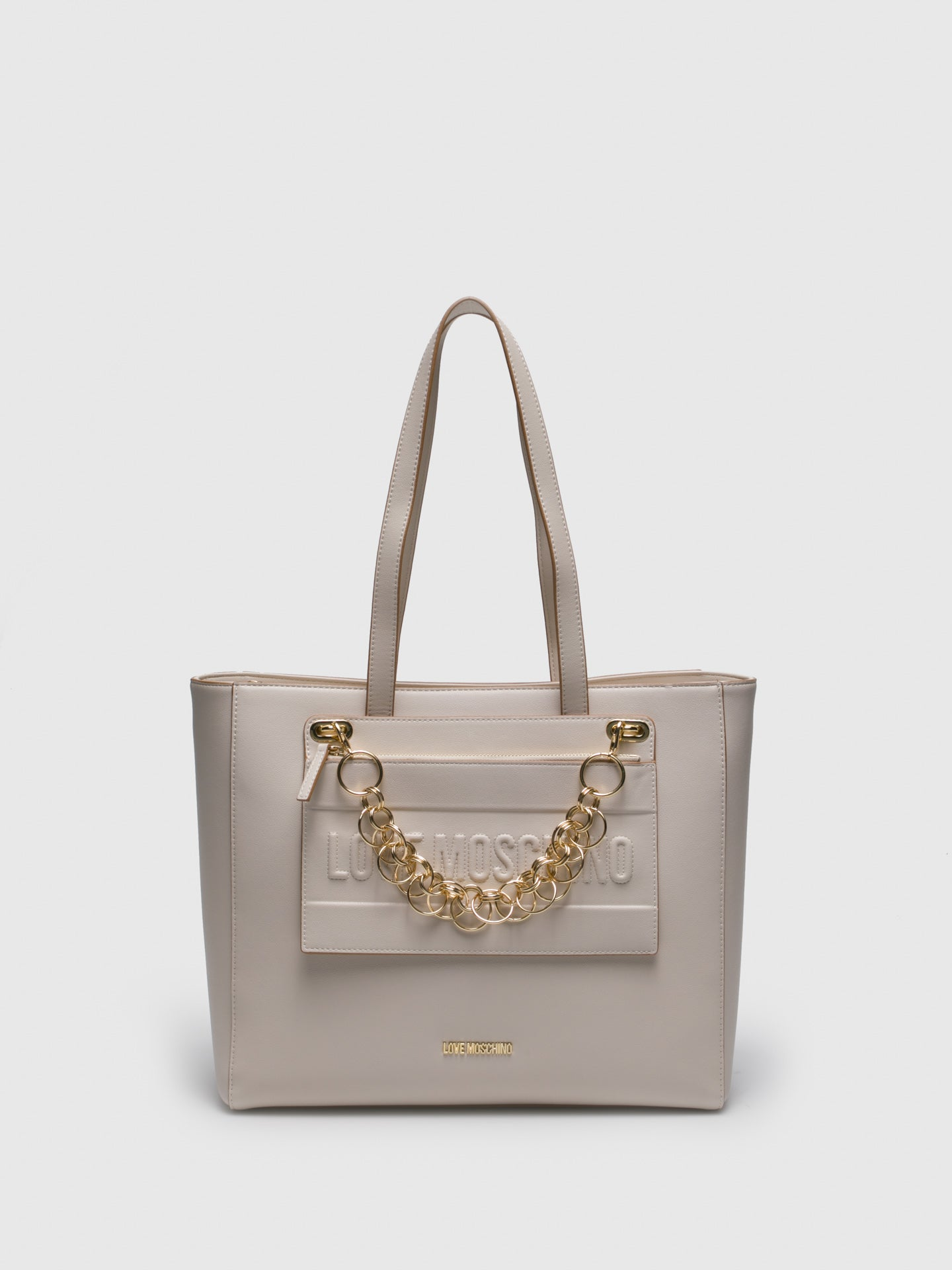 LOVE MOSCHINO Beige Shoulder Bag
